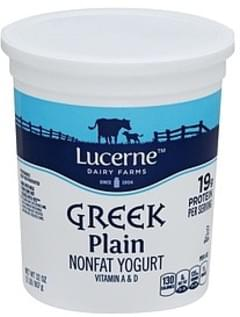 Lucerne Yogurt Greek, Nonfat, Plain