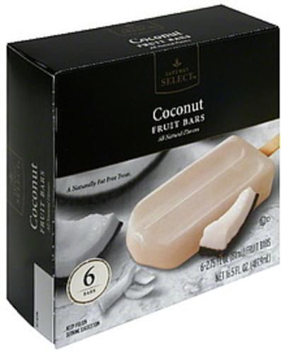 Safeway Select Coconut Fruit Bars - 6 ea