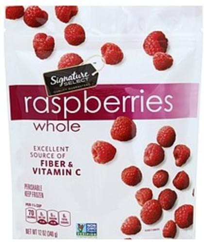 Signature Select Whole Raspberries - 12 oz