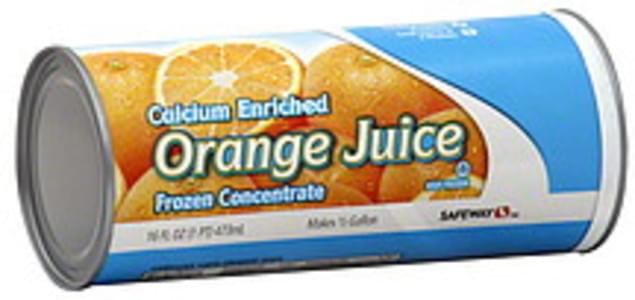 Safeway Orange Juice Calcium Enriched