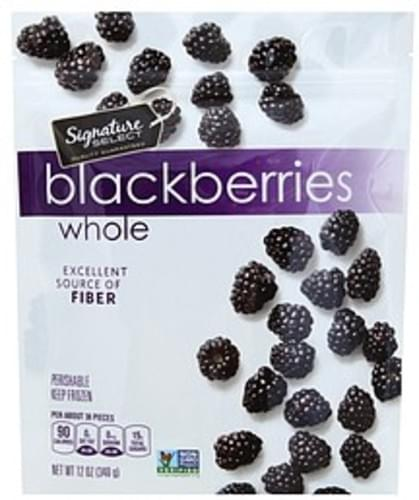 Signature Select Whole Blackberries - 12 oz