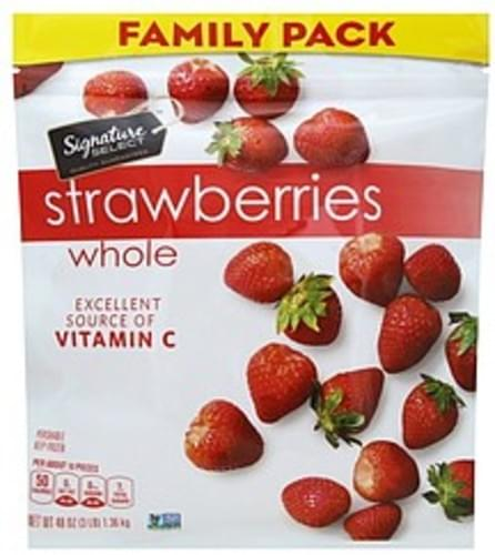 Signature Select Whole, Family Pack Strawberries - 48 oz