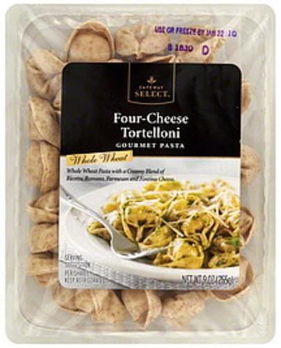 Safeway Select Tortelloni, Whole Wheat, Four-Cheese Gourmet Pasta - 9 oz