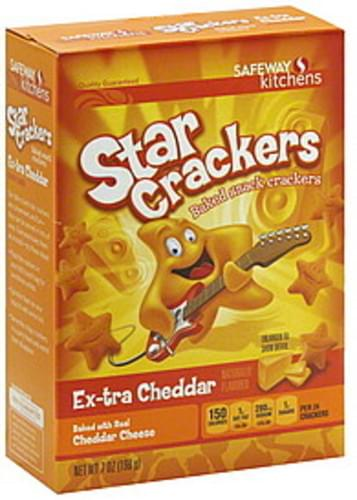 Safeway Baked, Star Crackers, Ex-tra Cheddar Snack Crackers - 7 oz
