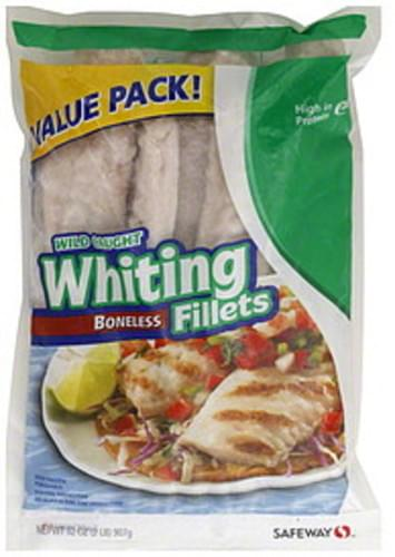 Safeway Wild Caught, Boneless, Value Pack Whiting Fillets - 32 oz