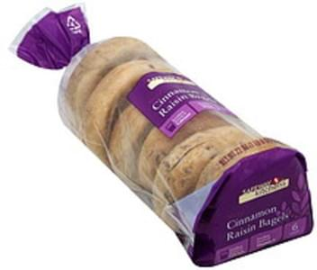 Safeway Kitchens Bagels Cinnamon Raisin, Sliced