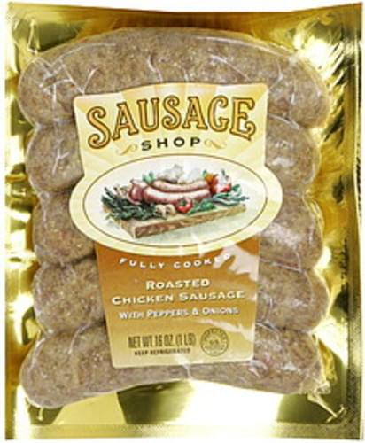 Sausage Shop with Peppers & Onions Roasted Chicken Sausage - 16 oz