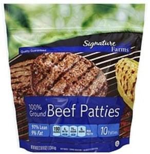 Signature Beef Patties 91% Lean/9% Fat