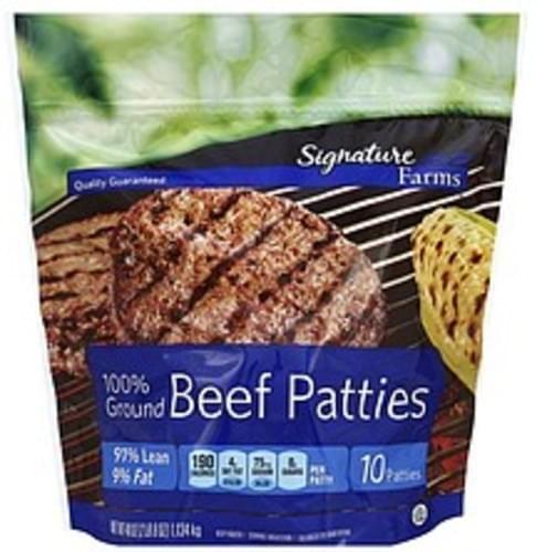 Signature 91% Lean/9% Fat Beef Patties - 10 ea