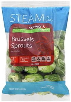Safeway Brussels Sprouts Pre-Washed, Steam in Bag
