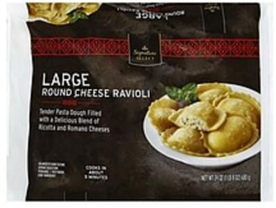 Signature Select Ravioli Round Cheese, Large