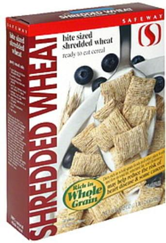 Safeway Frosted Shredded Wheat, Bite-Size Cereal - 17.2 oz