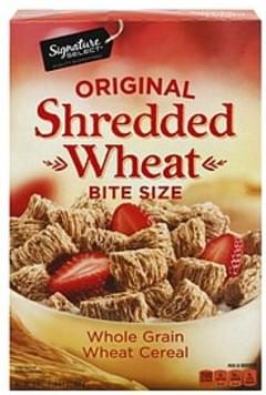 Signature Select Cereal Shredded Wheat, Original, Bite Size