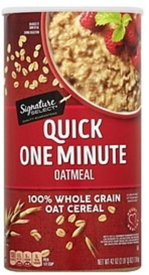 Signature Select Quick One Minute Oatmeal - 42 oz