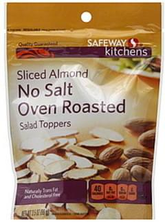 Safeway Salad Toppers Sliced Almond, No Salt Oven Roasted