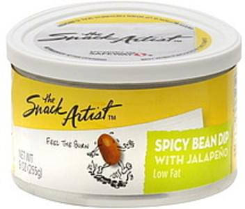 Snack Artist Bean Dip Spicy, Low Fat, With Jalapeno