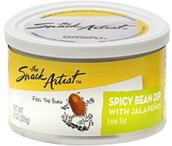 Snack Artist Spicy, Low Fat, With Jalapeno Bean Dip - 9 oz