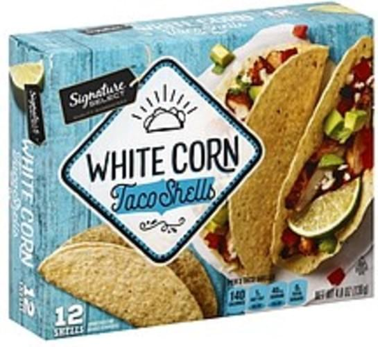 Signature Select White Corn Taco Shells - 12 ea
