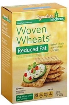 Signature Crackers Reduced Fat, Woven Wheats