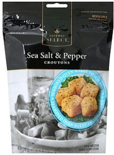 Safeway Select Sea Salt & Pepper Croutons - 5 oz