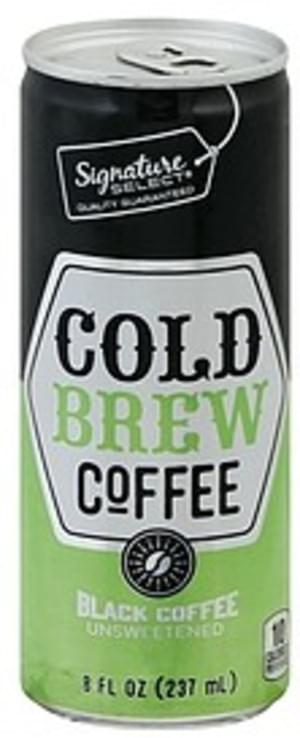 Signature Select Cold Brew, Black Coffee, Unsweetened Coffee - 8 oz