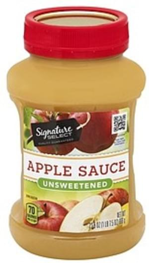 Signature Select Unsweetened Apple Sauce - 23.5 oz