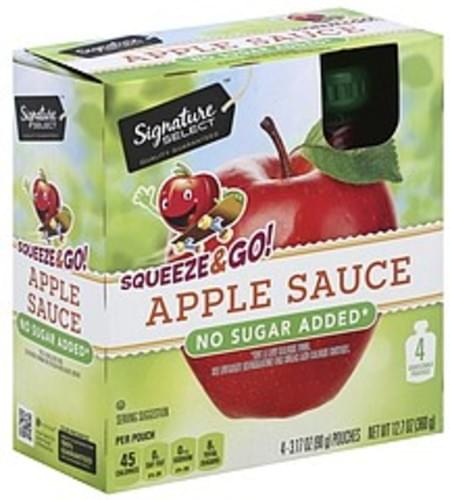 Signature Select Squeeze & Go! Apple Sauce - 4 ea