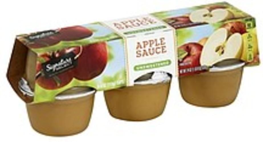 Signature Select Unsweetened Apple Sauce - 6 ea