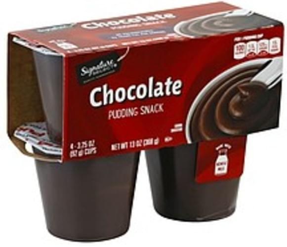 Signature Select Chocolate Pudding Snack - 4 ea