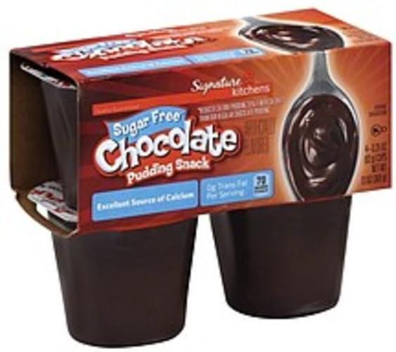Signature Sugar Free, Chocolate Pudding Snack - 4 ea