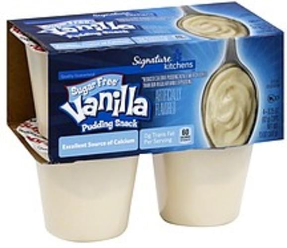 Signature Sugar Free, Vanilla Pudding Snack - 4 ea