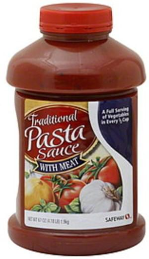 Safeway Traditional With Meat Pasta Sauce 67 Oz Nutrition Information Innit