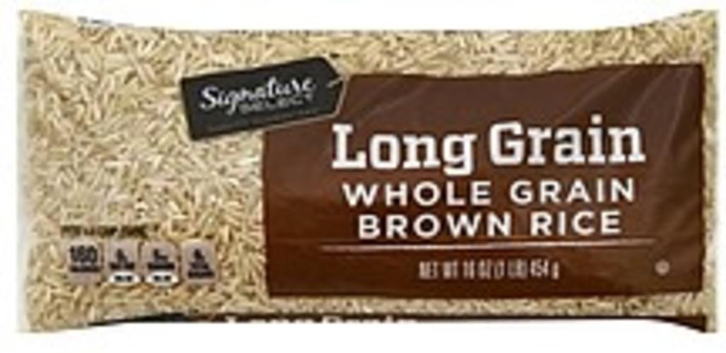 Signature Select Whole Grain, Long Grain Brown Rice - 16 oz