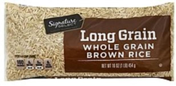 Signature Select Brown Rice Whole Grain, Long Grain