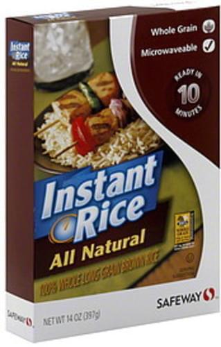 Safeway Brown, Instant Rice - 14 oz