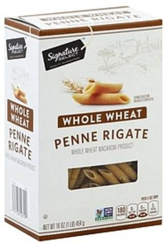 Signature Select Whole Wheat Penne Rigate - 16 oz