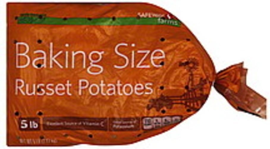 Safeway Russet, Baking Size Potatoes - 5 lb