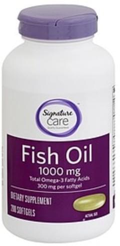 Signature Fish Oil 1000 mg, Softgels