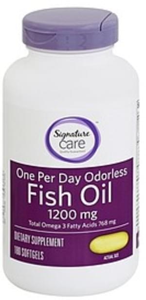 Signature Odorless, 1200 mg, Softgels Fish Oil - 180 ea