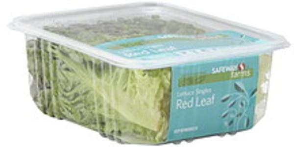 Safeway Farms Lettuce Singles, Red Leaf