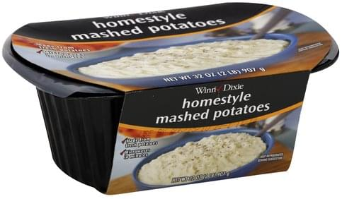 Winn Dixie Homestyle Mashed Potatoes - 32 oz, Nutrition