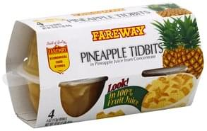Fareway Pineapple Tidbits 100% Fruit Juice