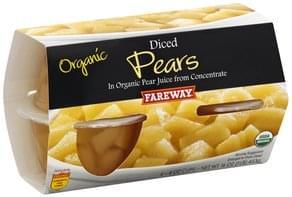 Fareway Diced Pears Organic