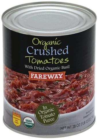 Fareway Crushed, Organic Tomatoes - 28 oz