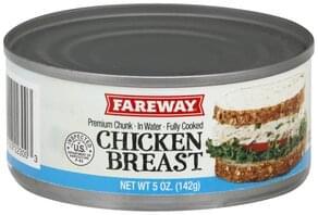 Fareway Chicken Breast Premium, Chunk in Water