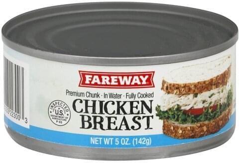 Fareway Premium, Chunk in Water Chicken Breast - 5 oz