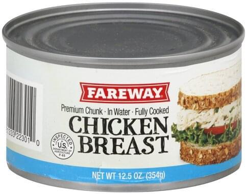 Fareway Premium, Chunk in Water Chicken Breast - 12.5 oz