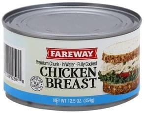 Fareway Chicken Breast Premium Chunk, in Water