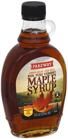 Fareway 100% Pure Vermont Maple Syrup - 8 oz