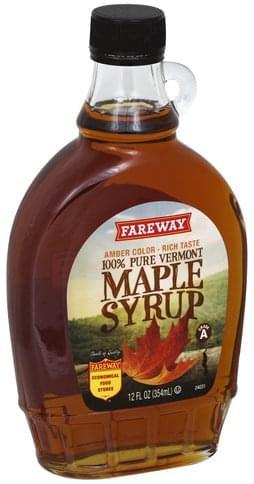Fareway 100% Pure Vermont Maple Syrup - 12 oz